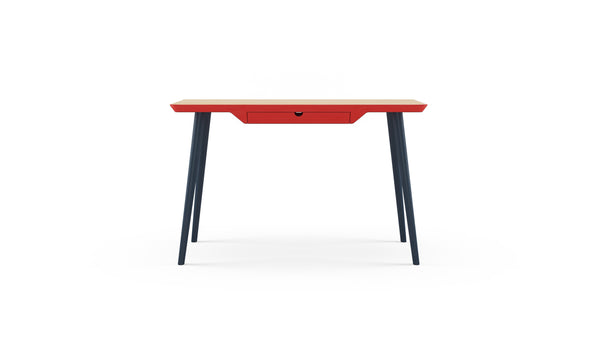 WW Desk CS3 - Deep Blue, Red & Oak