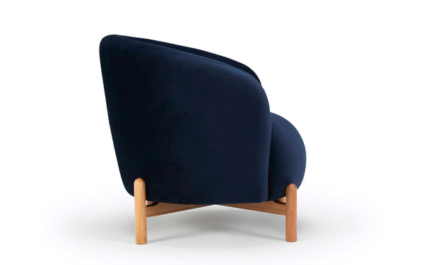 Glover Armchair - Wood Base