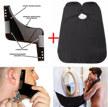 Beard Shaping Tool Template with Trimming Apron