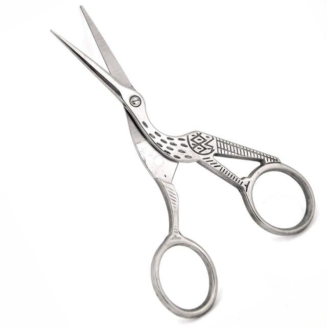 Professional Stainless Steel Engraved Beard Scissor Shears