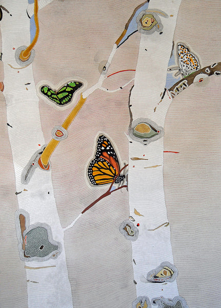 "Meredith Nemirov, ""Butterfly Trees,"" Limited Edition Giclee Print"