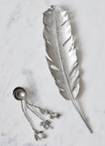 Silver Feather Tray