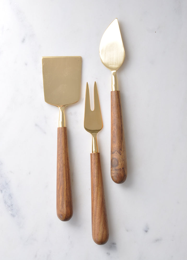 Wooden Handle Cheese Knives