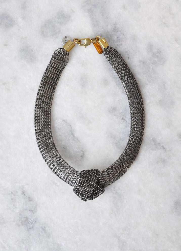 Kari Knotted Choker in Silver