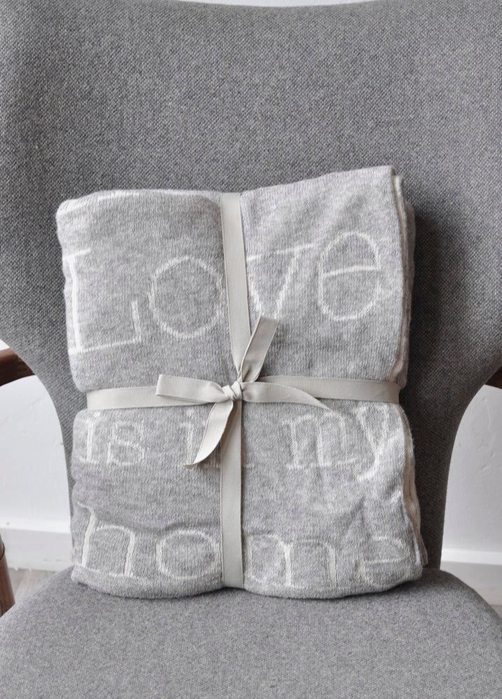 Love is in my home throw