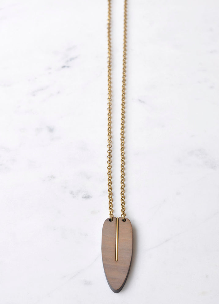 Leaf Drop Necklace