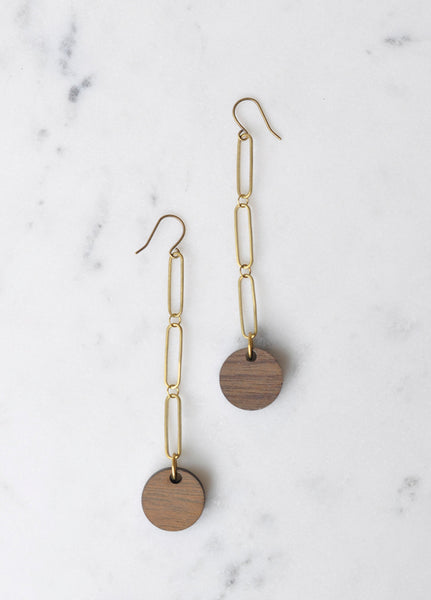 Circle Dot Drop Earrings