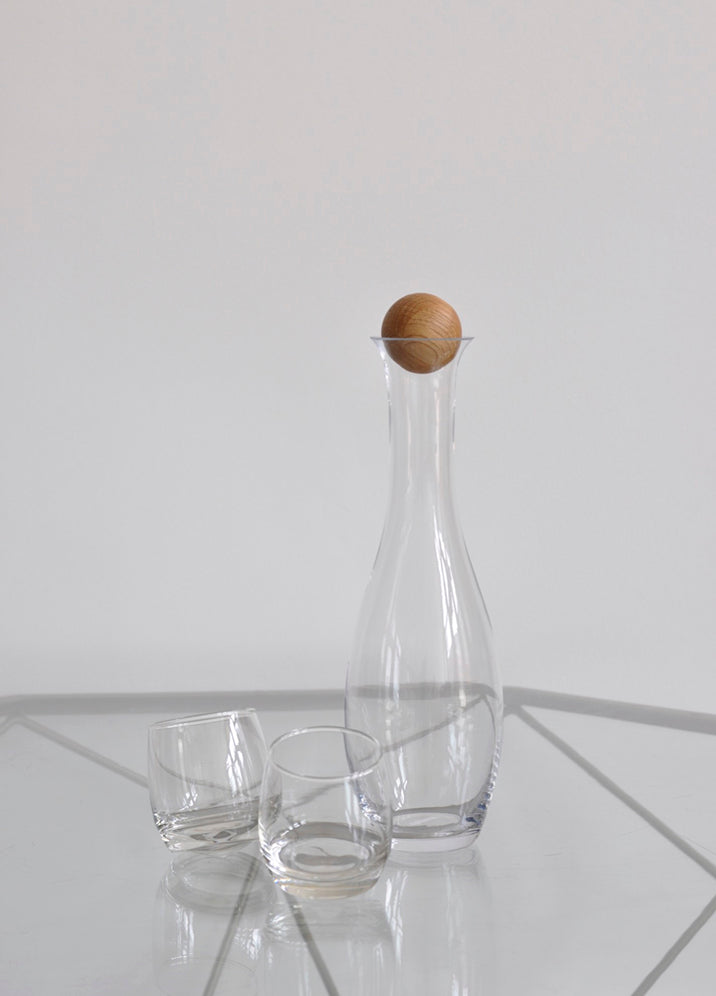 Oval Oak Carafe