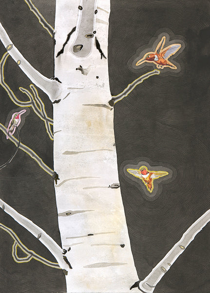 "Meredith Nemirov, ""The Hummingbird Tree"" Limited Edition Giclee Print"