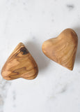 Olive Wooden Hearts