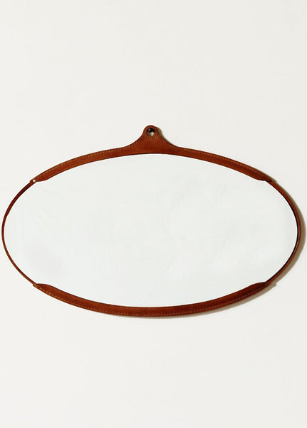 Leather Captain's Oval Mirror