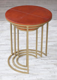 Leather Nesting Tables