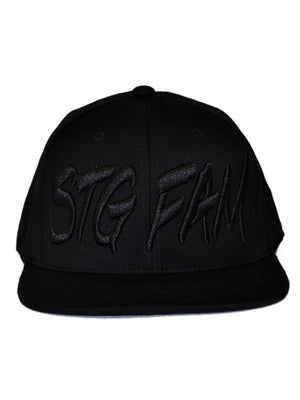Charpie -Black on Black - Snapback Hat