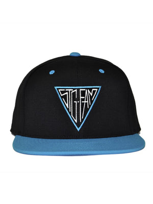 Triangle Black & Teal Snapback Hat