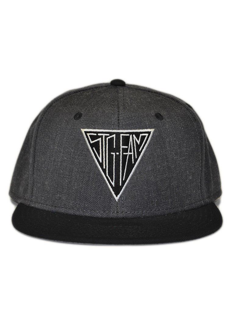 Triangle Grey & Black Snapback Hat