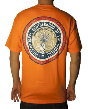 Pot Smokers Union - Orange Men's Tee