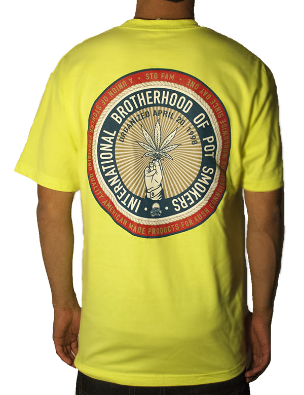 Pot Smokers Union - Yellow Men's Tee