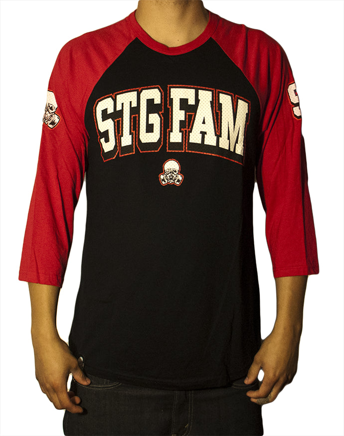 Varsity 98 - Red/Black Unisex Raglan
