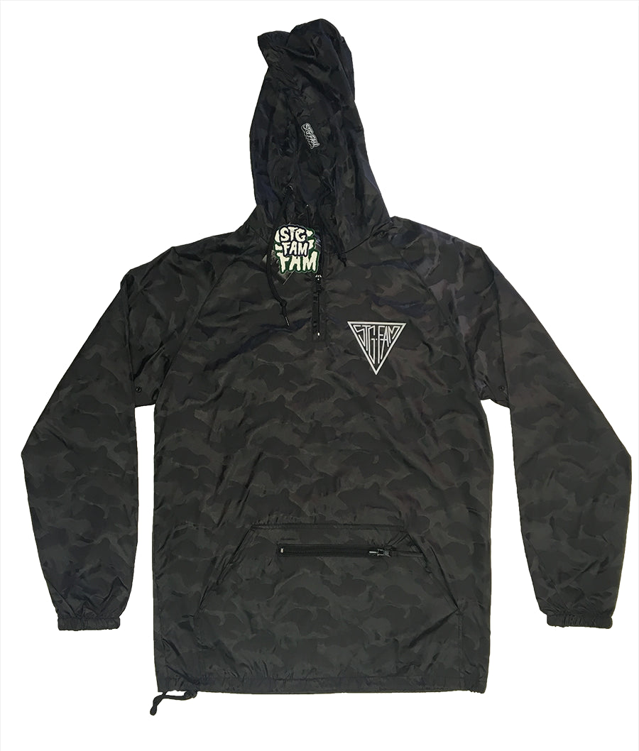 "(Limited Edition 3Tone Camo) Triangle ""Packable"" Anorak Pullover Jacket"