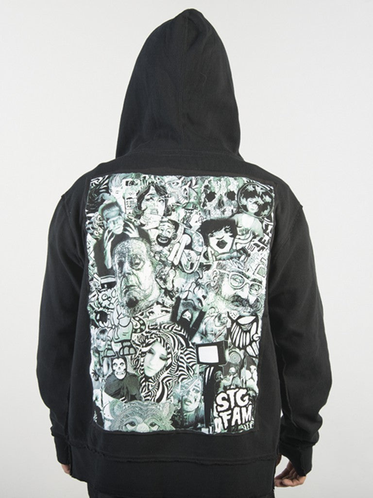 Collage - Zip Hoody