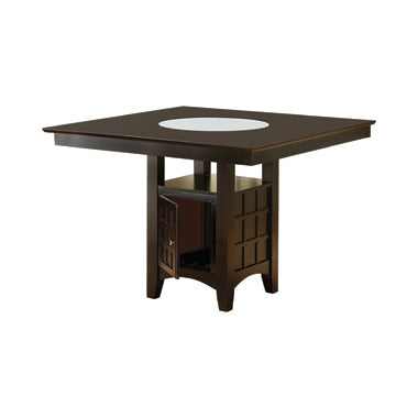 Clanton Storage Counter Height Table Cappuccino