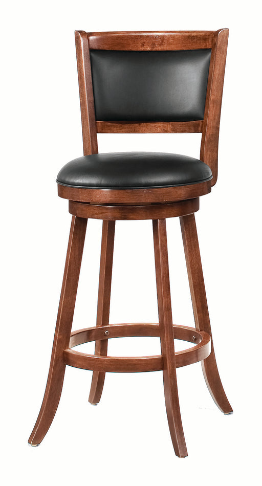 Upholstered Swivel Bar Stools Chestnut And Black (Set Of 2)