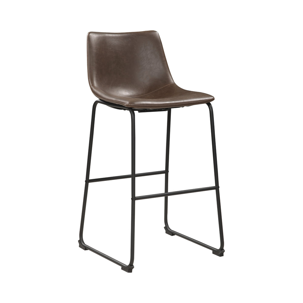 Armless Bar Stools Two-Tone Brown And Black