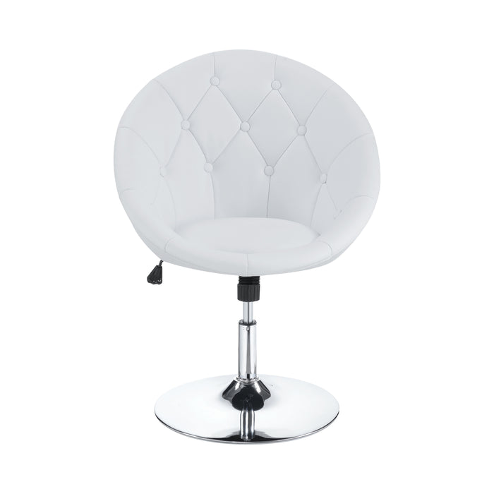 Round Tufted Swivel Chair