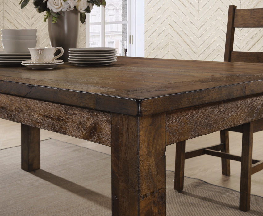 Coleman Rectangular Dining Table Rustic Golden Brown