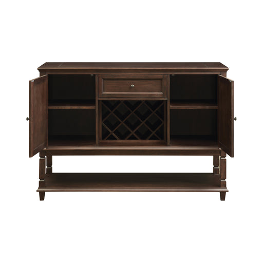 Parkins Server With Lower Shelf Rustic Espresso
