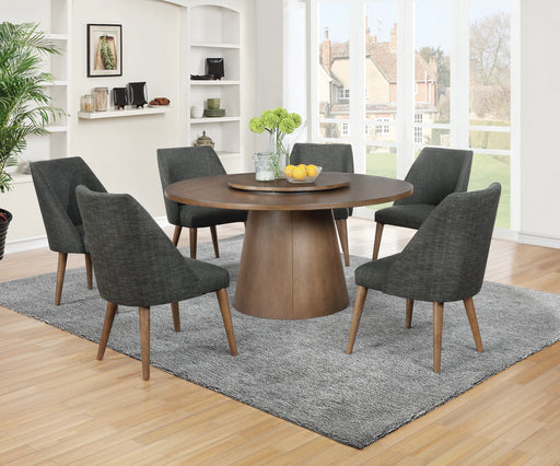 Beverly Drum Base Round Dining Table Dark Cocoa