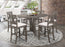 Athens 7-Piece Counter Height Dining Set Barn Grey