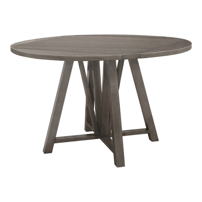 Athens Round Counter Height Table With Drop Leaf Barn Grey