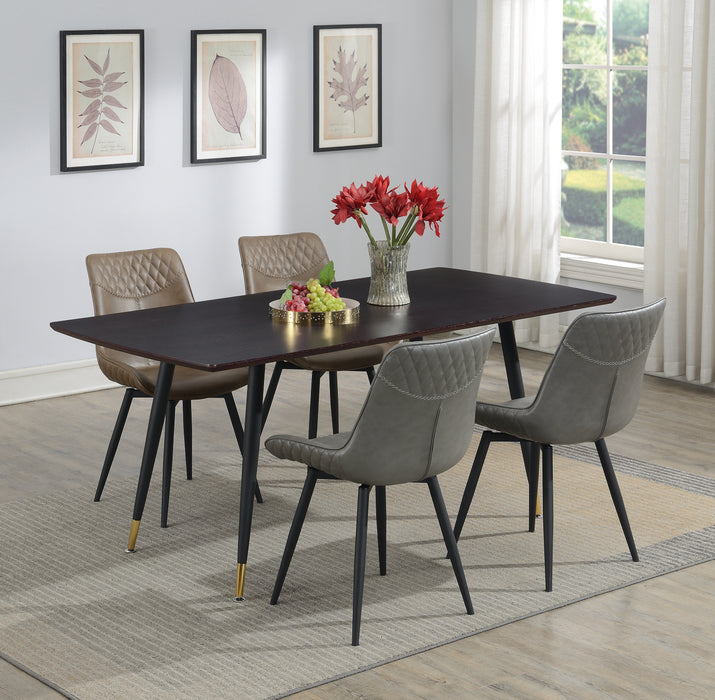 Bellance Dining Table With Metal Legs Walnut And Black