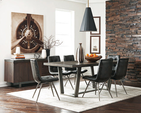 Dittnar Tufted Dining Chairs Charcoal