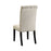 Tufted Back Upholstered Side Chairs Beige