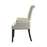 Tufted Back Upholstered Arm Chair Beige