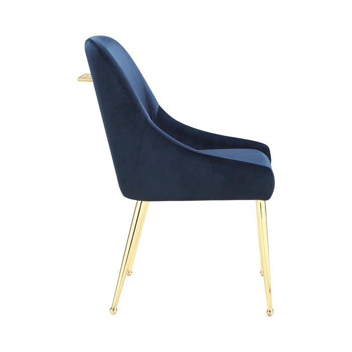Side Chairs Dark Ink Blue (Set Of 2)