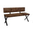 Sherman Upholstered Dining Bench Antique Brown And Matte Black