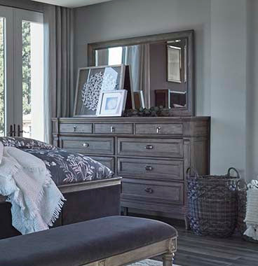 Alderwood 9-Drawer Dresser French Grey