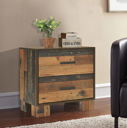 Sidney 2-Drawer Nightstand Rustic Pine