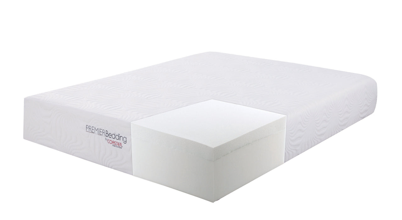 Ian Eastern King Memory Foam Mattress White