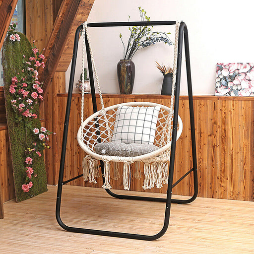 Hammock Chair Cotton Rope Handwoven Hanging Chair