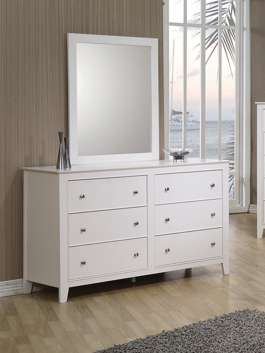 Selena 6-Drawer Dresser White
