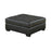 Darie Square Tufted Ottoman Black