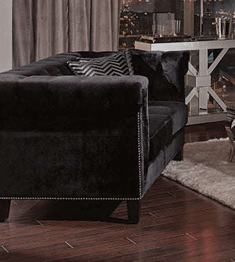 Reventlow Tufted Sofa Black