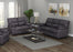 Meagan Pillow Top Arms Upholstered Loveseat Charcoal