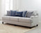 Gwen Recessed Arms Sofa Light Grey And Blue