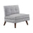 Churchill Button Tufted Armless Chair Grey