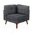 Churchill Tufted Cushion Back SectionaL Light Gray And Walnut Legs